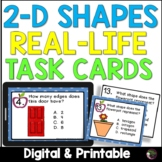 2 D shapes Real Life Task Cards