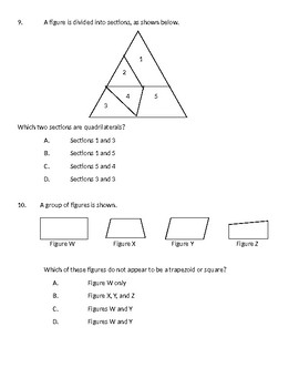Geometry- 2 Dimensional Figures