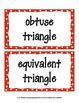 Geometry 2-Dimensional Word Wall / Vocabulary Cards (2-D)