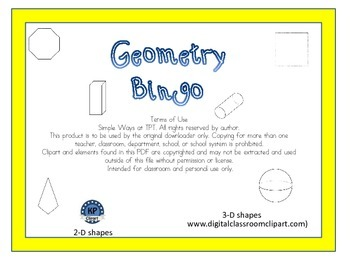 Geometry 2 and 3 D figures