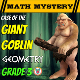 Geometry Review Math Mystery - 2D & 3D Shapes, Perimeter + Area Review