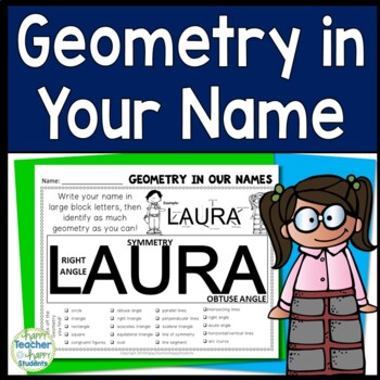 Geometry Activity: Find Geometry in Your Name = Geometry FUN!