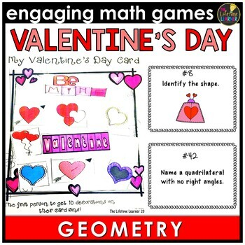 Valentines Day Geometry Game By The Lifetime Learner Tpt