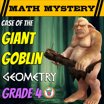 4th Grade Geometry Review Math Mystery: Lines, Angles, Shapes, Perimeter & Area