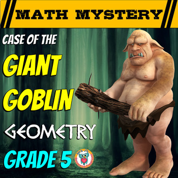 Geometry Review Math Mystery {Coordinates, Area, Volume, Angles}