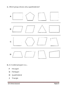 Geometry - 2D & 3D Shapes - STAAR - TEKS 3.6A & 3.6B
