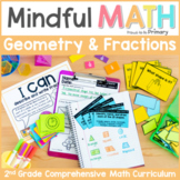 Geometry 2D Shapes & 3D Figures & Fractions - Second Grade Mindful Math