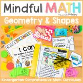 Geometry - 2D Shapes & 3D Solids Kindergarten Mindful Math