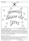 Geometry 2D Shapes Worksheet