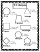 Geometry: 2D Shapes Anchor Chart and Activity Sheet!