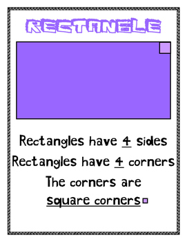 Geometry: 2D Shapes Mini Anchor Charts