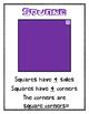Geometry: 2D Shapes Mini Anchor Charts