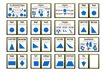 Geometry 2D Shapes Posters