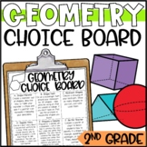 Geometry 2D and 3D Shape Enrichment Activities - Math Menu, Choice Board