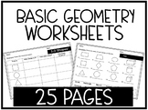 Geometry 2D and 3D Shapes Worksheets