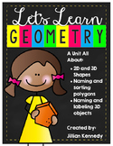 Geometry Unit: 2D & 3D Shapes