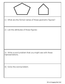 Geometry 2D figures Attributes & Problem Solving