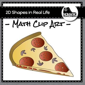 Geometry 2D shapes Real Life Example Clip Art - 22 PNGs for 8 different shapes