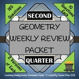 Geometry 2nd Quarter Weekly Review