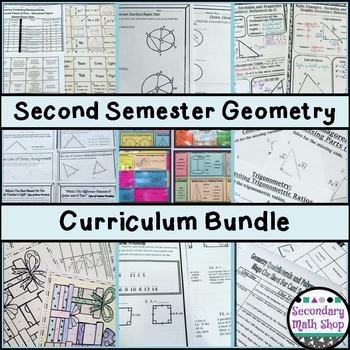 Geometry - 2nd Semester Curriculum Bundle - 5 Units!
