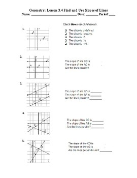 Geometry: 3.4 Find and Use Slope MCAS NEXT Generation 2.0