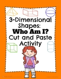 Geometry: 3-D Shapes Cut and Paste Activity