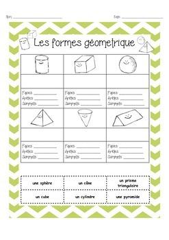 Geometry 3 Dimension - les sommets, arêtes, et faces
