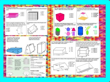 Geometry 3-Dimensional Shapes: 7th Grade Bundle
