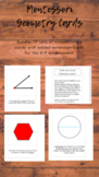 BUNDLE!! Geometry 3 part cards in print font (nomenclature cards)