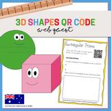 3D Shapes QR Code Webquest