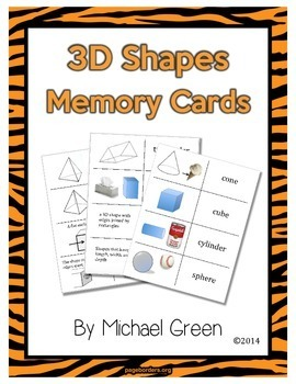 Geometry: 3D Shapes Memory Game