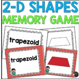 2D Shapes Memory Game (color and black and white versions)