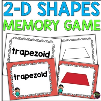 Geometry - 2D Shapes Memory Game (color and black and whit