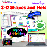 Geometry 3D Shapes and Nets Digital Activities with GOOGLE