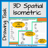 Geometry 3D Spatial Isometric Drawing Task