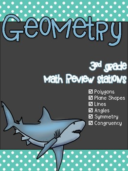 Geometry 3rd Grade Math Review Stations