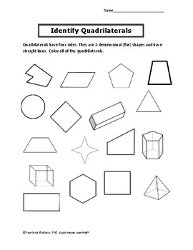 Geometry 3rd Grade: Shapes, Partition & Attributes - Common Core Standards