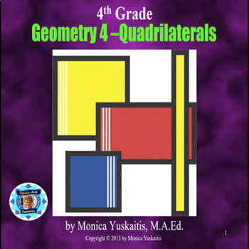 Common Core 4th - Geometry 4 - Quadrilaterals