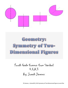 Geometry 4th Grade: Symmetry of Two-Dimensional Polygons