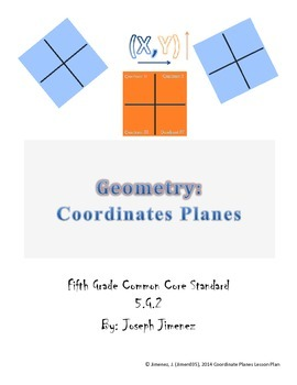 Geometry 5th Grade: Coordinate Plane Quadrants