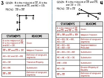 Geometry - 6 Segment Relationships Proofs - with Answer Key - Foldable