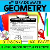 Geometry- 6th Grade Math Guided Notes and Activities