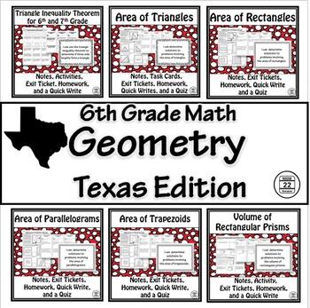 Geometry Unit TEKS 6.8A, 6.8B, 6.8C, 6.8D