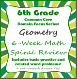 Geometry • 6th grade 6-Week *Domain Series Focus* Math Spi