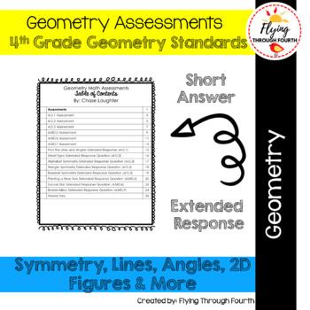 Geometry Assessments & ERQs 4.G.1 ● 4.G.2 ● 4.G.3 ● 4.MD.5 ● 4.MD.6 ● 4.MD.7