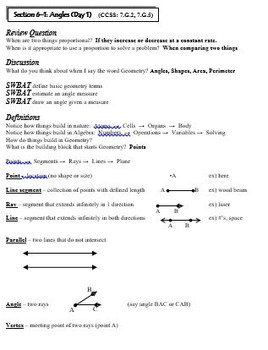Geometry:  7th Grade CCSS Geometry Unit