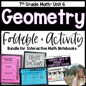 Geometry (7th Grade Foldable & Activity Bundle)