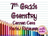Geometry 7th Grade Math Differentiated Review
