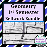 Bellwork / Exit Cards/Station Cards Geometry  (1st semester)  BUNDLE!