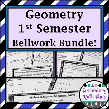 Bellwork / Exit Cards/Station Cards Geometry  (1st semeste